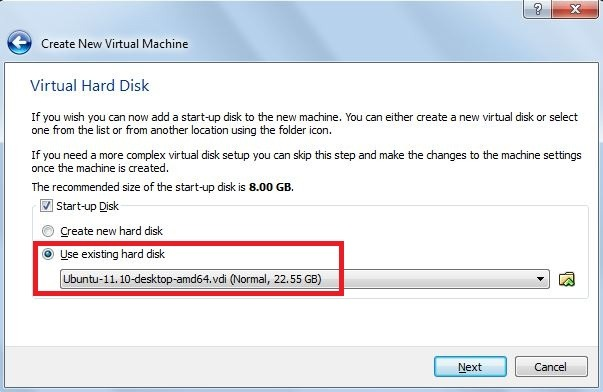 a virtualbox machine with the name already exists